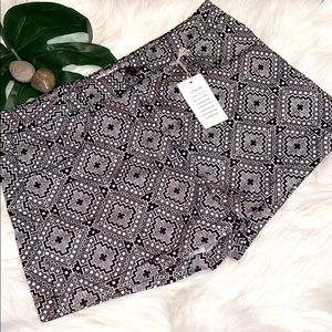 So Brand Black & White Print Junior Shorts